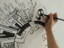 任性动漫墙绘