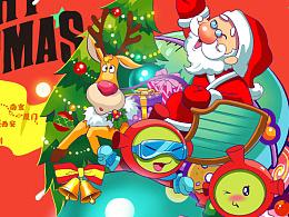 圣诞节 星仔插画