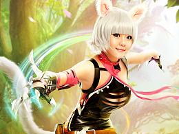 [游戏海报] 龙翼编年史OL - 猫女cosplay