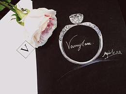【梵尼洛芙珠宝轻奢公主系列】Princess 设计灵感:蕾丝婚纱元素 - 求婚钻戒 婚戒设计