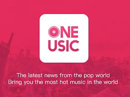 One Music app(个人设计)