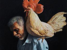 老爷爷与大鸡冠
