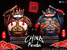核玩coreplay 中国文化原创作品《熊猫门神》