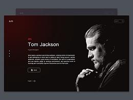 UI设计 界面设计 黑色风格设计 暗色风格 高端网页 暗系风格