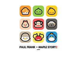 冒险岛2&Paul Frank联名款服装图案设计