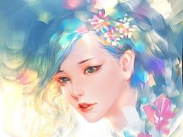 女性头像范画