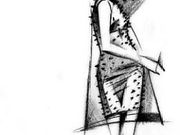 一组服装画