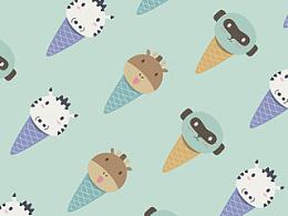 冰淇淋色壁纸&可爱贴图(in-app可下载使用)
