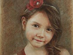 彩铅人物-Chole(7岁)
