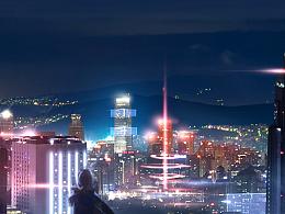 唐智临_SpaceShip Studio_概念设计_科幻城市