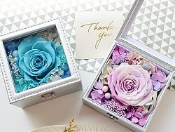 花艺手作--永生花礼盒--《夏末花园成长日记37》