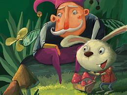 黑夜思考小丑和兔子