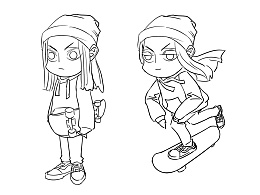 滑板男孩Q版