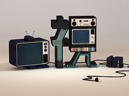 电视机 C4D