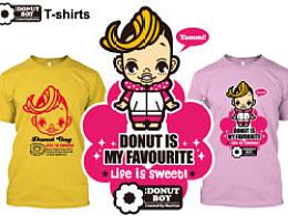 香港Donut漫画T恤