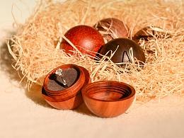 《恒家之造》 创意纯手工木质戒指盒 圣诞球戒指盒