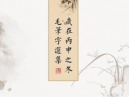 2016丙申之冬毛笔字选集