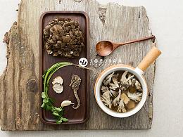 静物摄影-银耳与菌菇