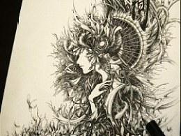 织魂——钢笔手绘《人间》《浮灯》··VIKI的随心幻想··