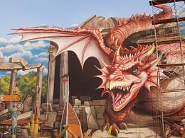 特色小镇3D壁画如何打造完美的3D艺术效果