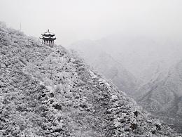 雪后居庸关长城