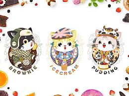《来自喵星系列》-糖糖的甜品店猫猫后6只
