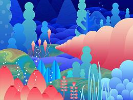 五彩的海底世界