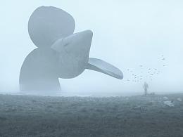 薄雾中的螺旋桨