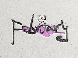 1-12月英文手写字体