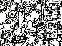 插画—面具