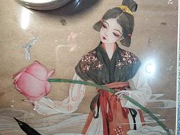 工笔侍女图