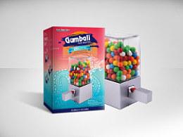 GumballPetitMachine口香糖机器包装设计