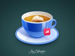 写实茶杯一枚