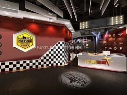 赛车风格主题健身房设计