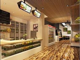 【龙华果宴水果店】成都水果店装修效果图 成都专业水果店设计 成都水果店装修设计公司