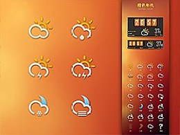 橙色年代 - Weather Widget 3.0全套图标