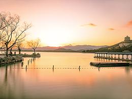 日落美景-颐和园昆明湖