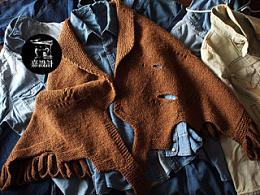 个性羊毛手工披风*嘉设计