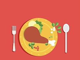 扁平化食物