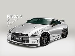NISSAN GTR-超写实绘制