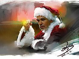 圣诞老人累了
