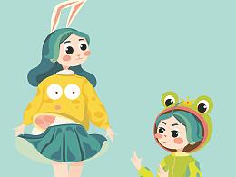 兔子先生 & 青蛙王子