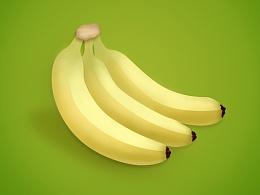 PS鼠绘写实香蕉