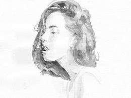 圆珠笔/水彩画 : 一天一画之一周绘画展示
