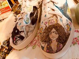 最近一个月画的手绘鞋