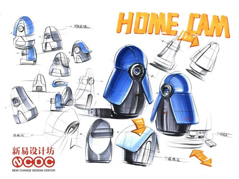 新易设计坊工业设计手绘;考研版面;工业设计手绘马克笔精致超细表达