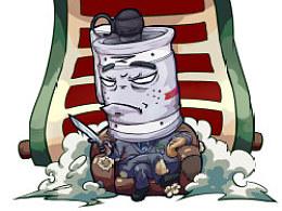 手榴弹主题的一组角色