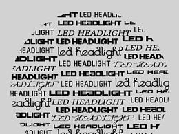 LED HEADHIGHT 字体