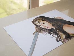 彩铅画《Wonder Woman》