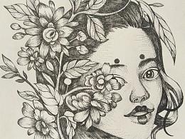 针管笔绘画-练习